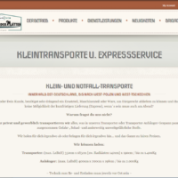 Dienstleistung - Kleintransporte