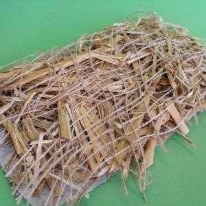 Strohmatte mit Netze und Garnen aus Jute sowie Saatgut